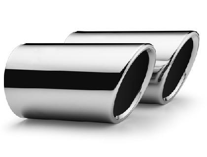 Embellecedor para silenciador de tubo de escape Cromo, tubo de escape de 70mm de diámetro, conectable