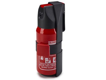 Soporte para extintor Para un depósito de 1 kg, montaje en la zona para los pies