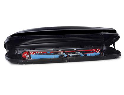 Caja portaequipajes de techo Comfort, 460 litros, negro alto brillo