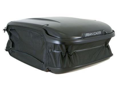 Caja portaequipajes de techo 300-500l, Urban Loader, negro mate