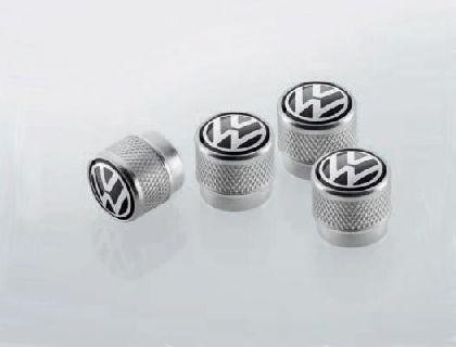 Capuchones de válvula con logo VW, para válvulas de goma/metal
