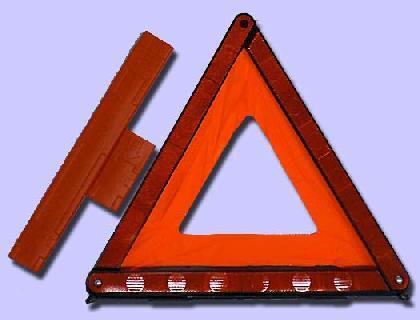 Triángulo de señalización plegable, compacta