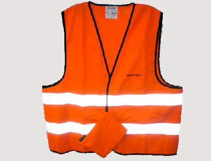Chaleco de señalización OZ (Accesorios originales), naranja, en bolsa de tela con inscripción