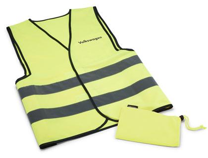 Chaleco de señalización Accesorios originales, amarillo de señalización, en bolsa de tela con inscripción
