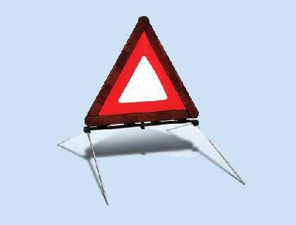 Triángulo de señalización plegable