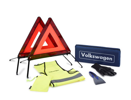 Paquete de seguridad para asistencia en carretera con dos triángulos de emergencia