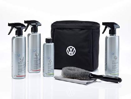 Juego de conservación envuelto en bolsa de tela con logotipo VW