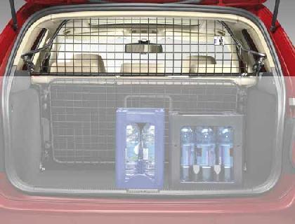 Rejilla de separación Cuadro de tubo, negro, malla de acero, con airbag para cabeza