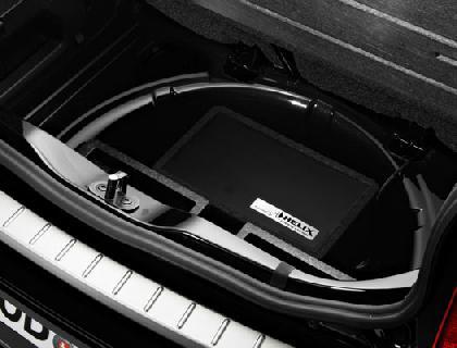 Sistema de sonido Plug and Play Hueco de la rueda de repuesto, 5 canales, Quadlock