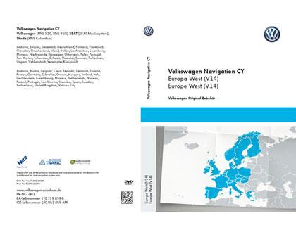 DVD-ROM para sistema de navegación CY Europa Occidental V14