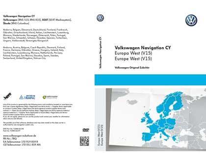 DVD-ROM para sistema de navegación CY Europa Occidental V15