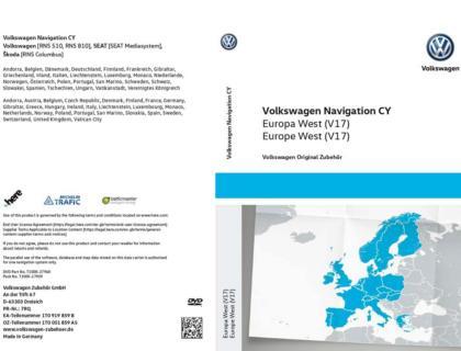DVD-ROM para sistema de navegación CY Europa West V17