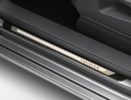 Listón de acceso Acero inoxidable, juego de 4 piezas, con inscripción del vehículo