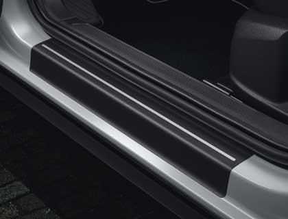 Lámina protectora para listones de acceso Negro/plata, delantero y trasero
