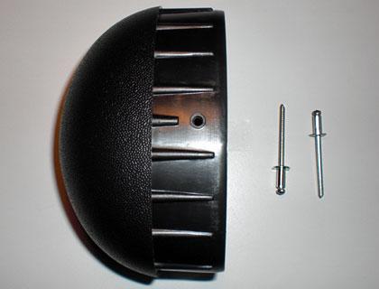 Caperuzas terminales para tubo del larguero con remaches de repuesto