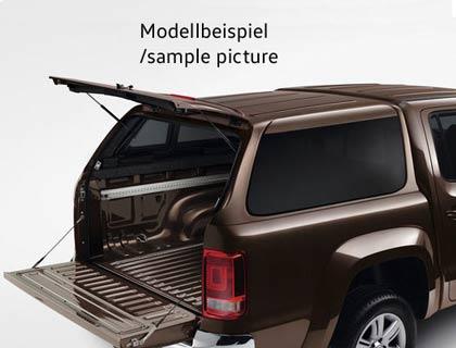 Hardtop para compartimiento de carga Natural Grey, con cierre