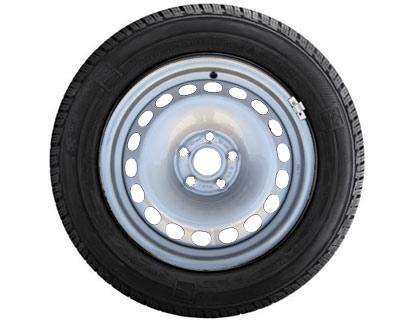 Rueda completa para invierno 235/65 R16 121/119R C, Nokian Tyres WR C3, acero, gris colores cromados, izquierda