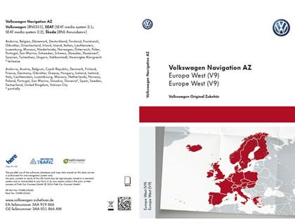 Tarjeta SD para sistema de radionavegación AZ Europa Occidental, V9