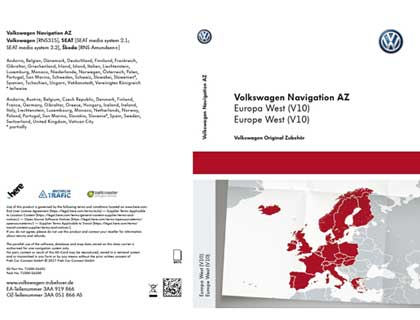 Tarjeta SD para sistema de radionavegación AZ Europa Occidental, (V10)