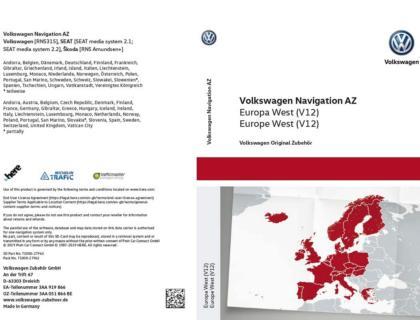 Tarjeta SD para sistema de radionavegación AZ Europa West V12