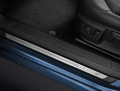 Listón de acceso Acero inoxidable, con inscripción del vehículo