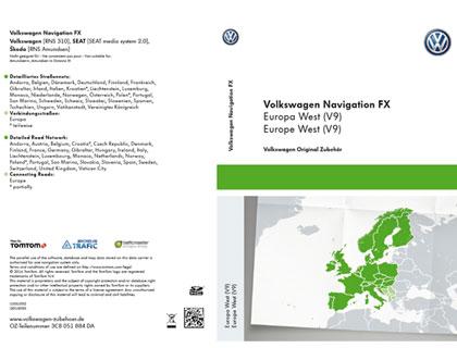 Tarjeta SD para sistema de radionavegación FX Europa Occidental (V9), RNS 310