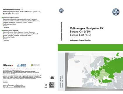 Tarjeta SD para sistema de radionavegación FX Europa Oriental (V10), RNS 310