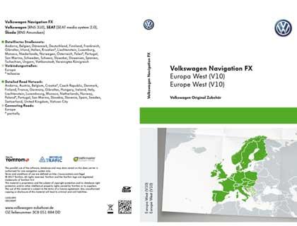 Tarjeta SD para sistema de radionavegación FX Europa Occidental (V10), RNS 310
