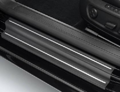 Lámina protectora para listones de acceso lámina, negra/plata