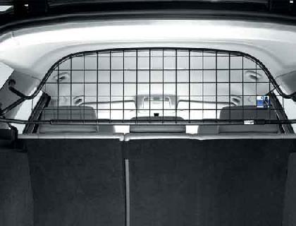 Rejilla de separación Bastidor de tubo, negro Malla de acero, con airbag de cabeza