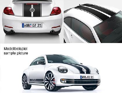 Lámina decorativa Diseño de líneas, 4 líneas, blanco Amalfi, solo para vehículos sin techo solar panorámico inclinable