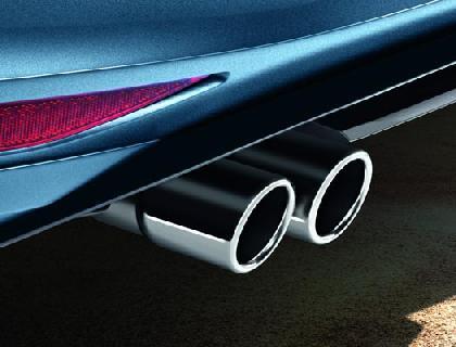 Embellecedor para silenciador de tubo de escape 2 x 76 mm, fijación de 3 puntos