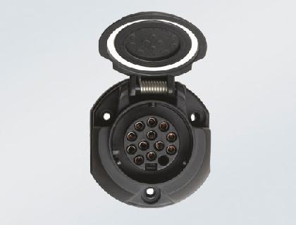 Juego de montaje eléctrico para dispositivo de remolque de 13 polos, para vehículos preparados para llevar un dispositivo de remolque