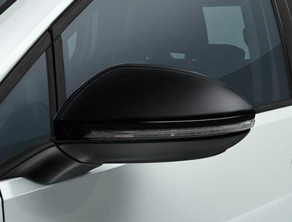Caperuza de espejos Negro alto brillo