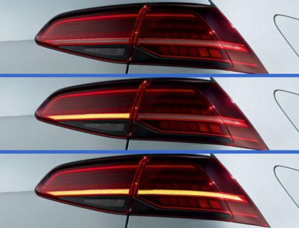 Juego de luces traseras LED, intermitentes dinámicos, vehículos con volante a la izquierda con PR-8SQ