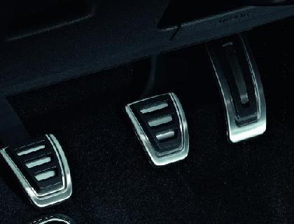 Juego de cubiertas de pedales para vehículos de cambio manual, volante a la izquierda