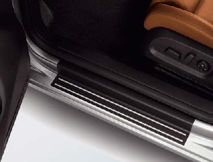 Lámina protectora para listones de acceso Lámina negra y plata, 4 puertas