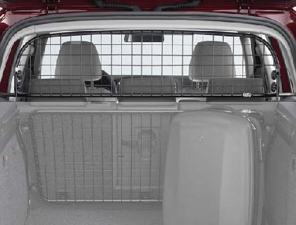 Rejilla de separación Bastidor de tubos, negro Malla de acero, con airbag de cabeza