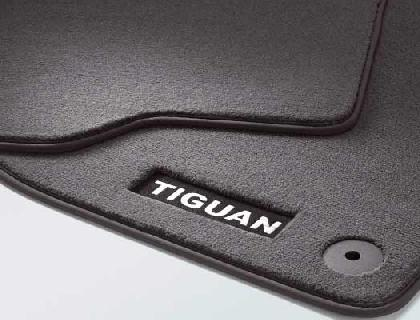 Alfombrillas textiles delantero/a y trasero/a, negro, Premium con inscripción