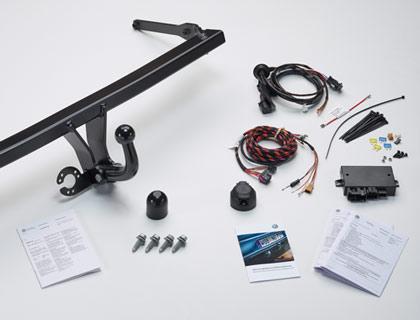 Dispositivo de remolque (juego) rígido, incl. juego de montaje eléctrico de 13 polos