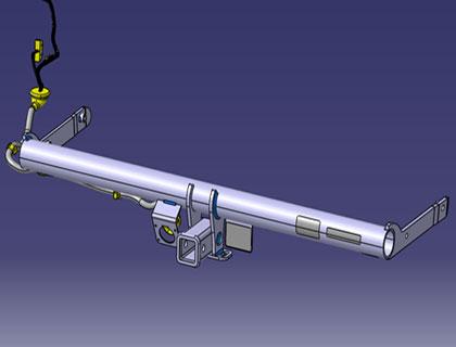 Módulo de alojamiento para cabeza esférica para remolques Ball mount receiver tube, 1 1/4