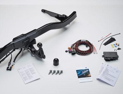 Dispositivo de remolque (juego) orientable, incl. juego de montaje eléctrico de 13 polos