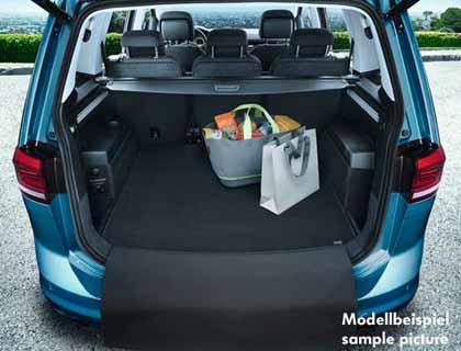 Estera reversible para maletero De 7 plazas, terciopelo/motas plásticas