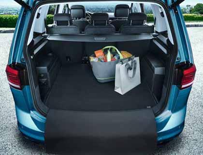 Estera reversible para maletero De 5 plazas, terciopelo/motas plásticas
