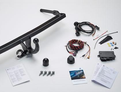 Dispositivo de remolque (juego) fijo, incl. juego de montaje eléctrico de 13 polos, solo para vehículos sin preparación para dispositivo de remolque de fábrica