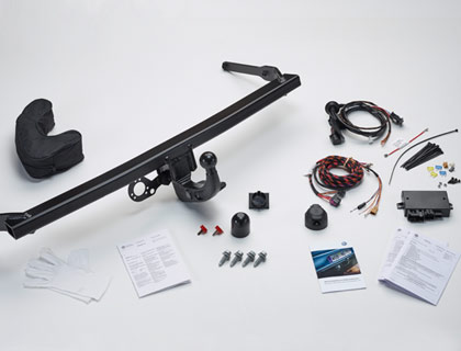 Dispositivo de remolque (juego) extraíble, incl. juego de montaje eléctrico de 13 polos, solo para vehículos sin preparación para dispositivo de remolque de fábrica