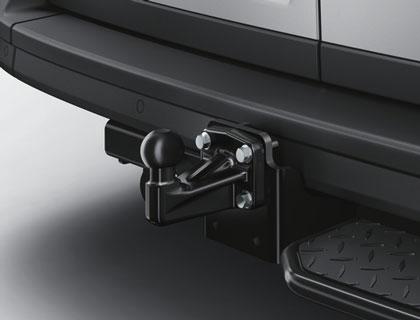 Dispositivo de remolque desatornillable, vehículos con neumáticos gemelos