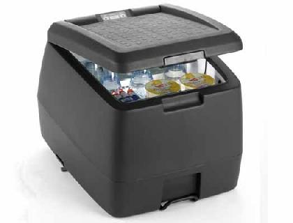 Nevera-termo portátil volumen de 32 litros, antracita