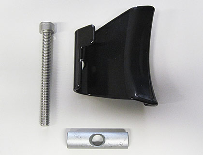 Garra de sujeción inferior derecha, para soporte del capó del maletero