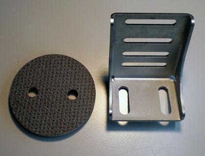 Escuadra para el suelo con tapa Para superficie de carga de serie (Nº PR: 5BM), 1 unidad en cada uno